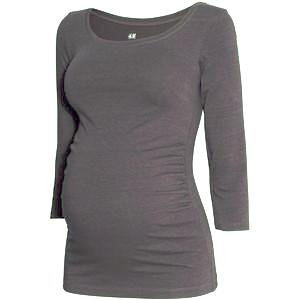 H&M MAMA Jersey Top Grey