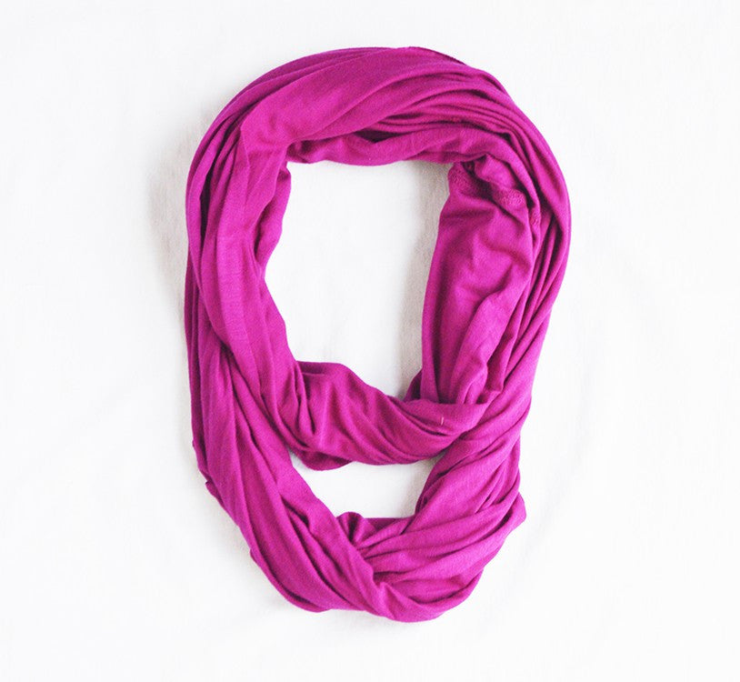 Eliseo The Infinity Scarf/Nursing Cover -Single Layer Cranberry