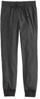 J crew maternity drapey grey wool pant charcoal