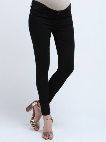Paige Women's Maternity Jeans - Verdugo Ultra Skinny In Black Shadow