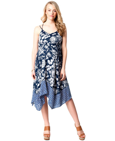 Jessica Simpson Maternity Hanky Hem Maternity Dress