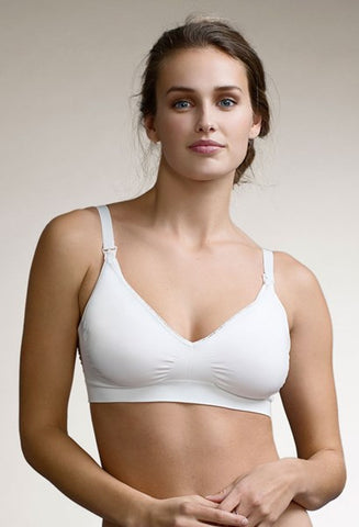 Boob Design Nursing Bra Fast Food (White, Beige)