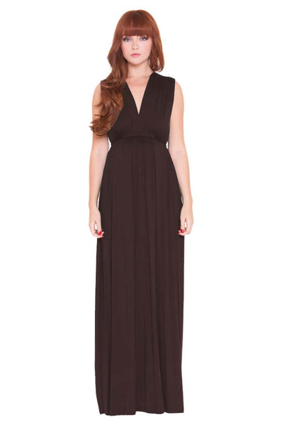 Olian Maternity Black Lucy Maxi Dress