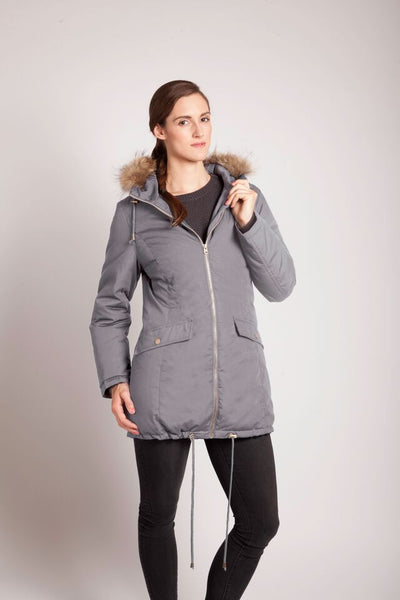 Modern Eternity Winter Parka with Fur trim hood - Grey or Navy