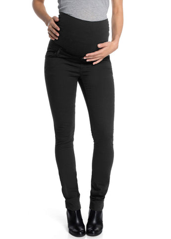 Queen Mum Maternity Black Full Panel Skinny Jean