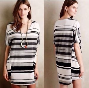 Anthropologie Puella Striped Knit Elevation Cocoon Dress