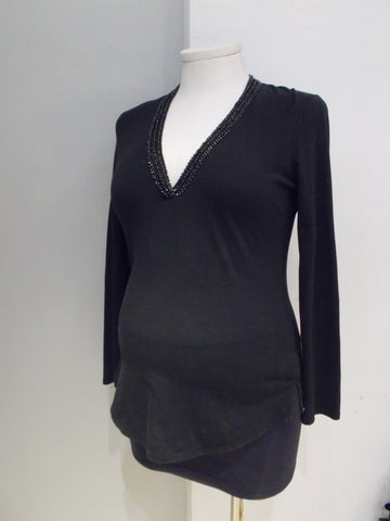 Gap Maternity beaded v-neck top
