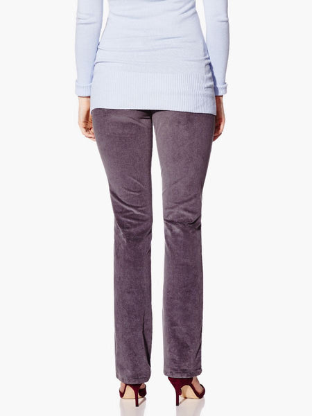 Thyme Maternity Bootcut Cord Pant Grey