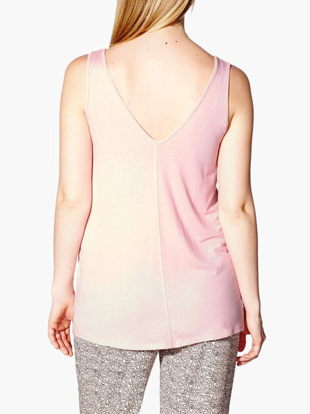 Thyme Maternity Quartz Pink V-Neck Maternity Tank Top (XS)