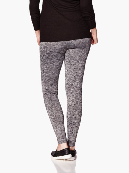 Thyme Maternity Essence - Two-Toned Knit Maternity Legging