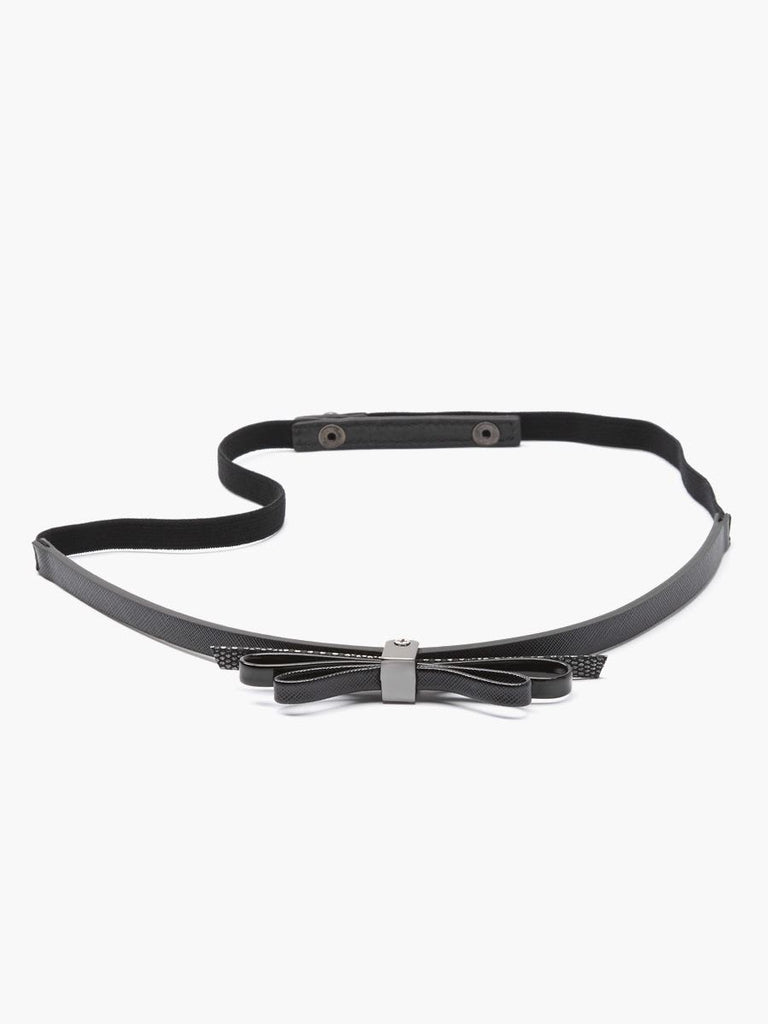 Thyme Maternity Black Double Bow Belt