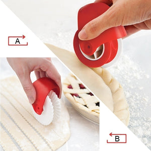 Professional Rolling Roller Lattice Wish Tool Pastry Pizza Wheel Cutter | Baking Kitchen Accessories