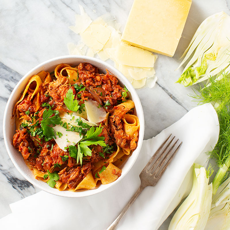 Pulled Pork & Fennel Ragu with Pappardelle
