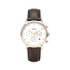 Cluse Aravis Chrono Leather Brown, Rose Gold Colour - CW0101502002