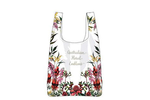 Aus Floral Emblems Rpet Shopping Bag