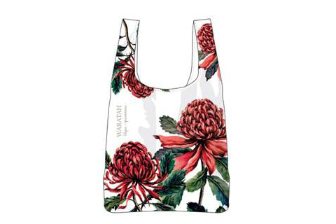 Aus Floral Emblems Waratah Rpet Shopping Bag