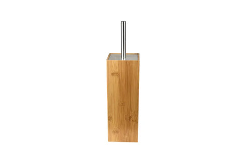 Square Bamboo Stainless Steel Toilet Brush