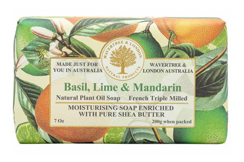 Basil Lime Mandarin Soap Bar 200G