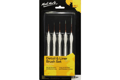 Detail & Liner Brush Set 5Pc