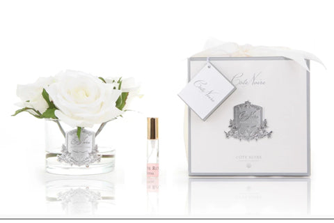 Cote Noire Perfumed Natural Touch 5 Roses - Clear - Ivory White