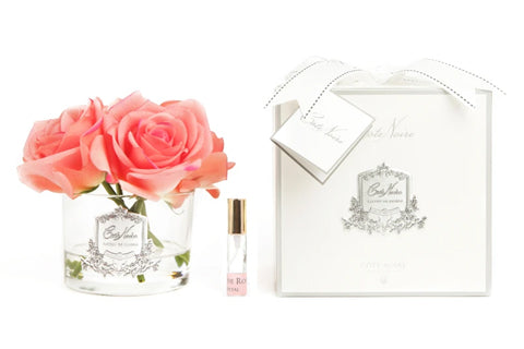 "Cã""Te Noire Perfumed Natural Touch 5 Roses - Clear - White Peach"