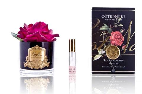 "Cã""Te Noire Perfumed Natural Touch Single Rose - Black - Carmine Red"