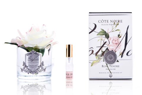 Cote Noire Perfumed Natural Touch Single Rose - Clear - Pink Blush