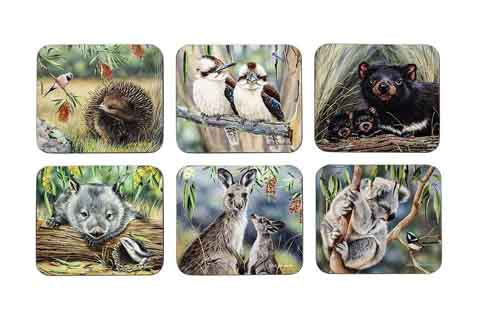 Fauna Of Aus 6Pk Coaster