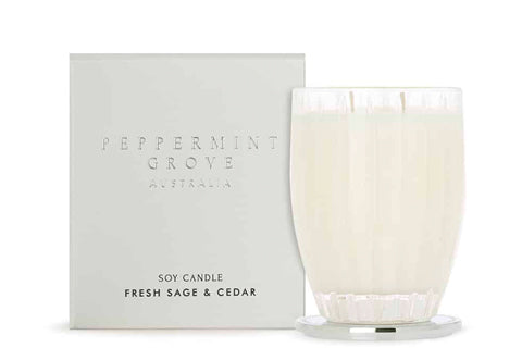 Fresh Sage & Cedar Large Candle 350G