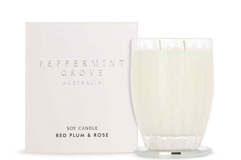 Red Plum & Rose Large Candle 350G