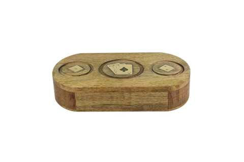 Dice & Cards Wood Box