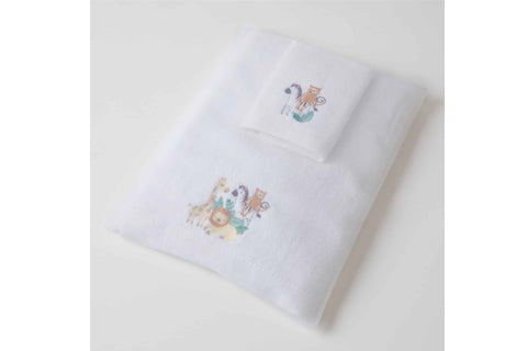 Safari Bath Towel & Face Washer in Organza Bag