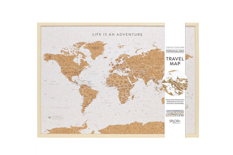 Travel Board Large World Map