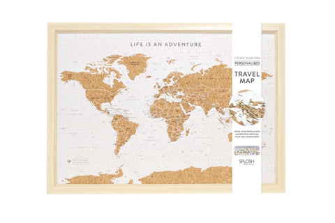 Travel Board Small World Map