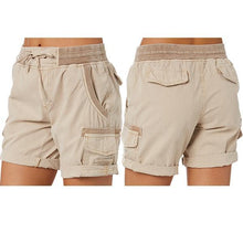 Load image into Gallery viewer, Women Drawstring Bags Cargo Shorts