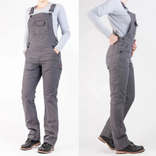 Load image into Gallery viewer, Women's Stretch Canvas Casual Working Overall Pants