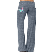 Load image into Gallery viewer, Fancy Butterfly Print Comfy Bell Bottom Yoga Pants