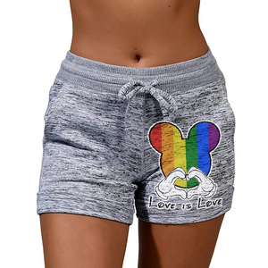 Love Is Love LGBT Rainbow Print Shorts