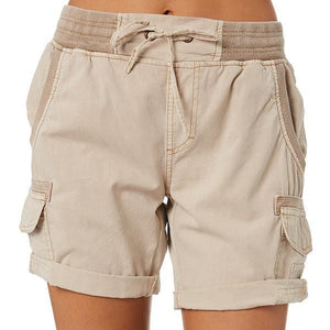 Women Drawstring Bags Cargo Shorts