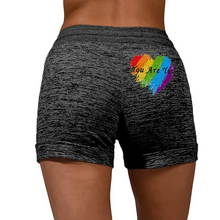 Load image into Gallery viewer, Love Is Love LGBT Rainbow Print Shorts