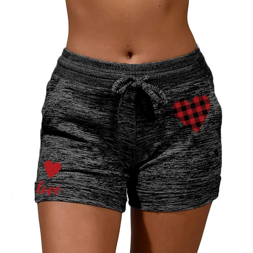 ●Pre-sale ● Lovely Plaid Heart Heather Comfy Active Shorts