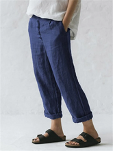 Load image into Gallery viewer, Women's Loose Oversized Cotton Linen Pocket Buttoned Pants
