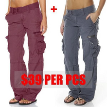 Load image into Gallery viewer, Hip Hugger Comfy Cargo Casual Pants