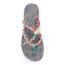 Load image into Gallery viewer, Women Handmade Flip Flops Summer Woven Beach Sandal Slippers