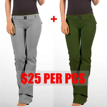 Load image into Gallery viewer, Women's Hip Hugger Flap Pockets Boot Cut Yoga Pants