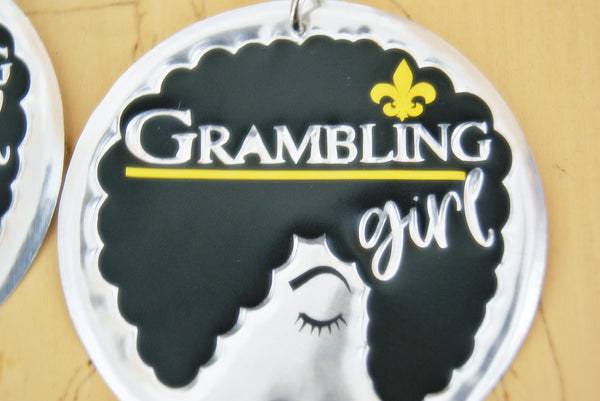 'Grambling Girl' HBCU Collection Afro Statement Earrings