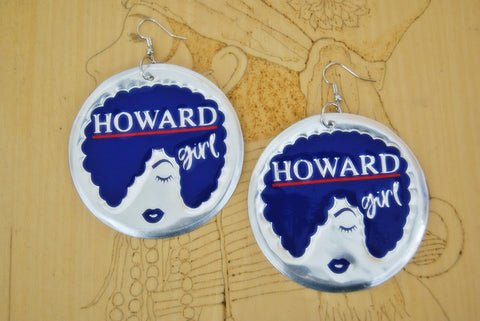 'Howard Girl' HBCU Collection Afro Statement Earrings
