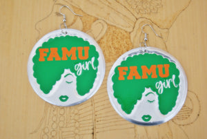 'FAMU Girl' HBCU Collection Afro Statement Earrings