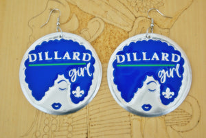 'Dillard Girl' HBCU Collection Afro Statement Earrings