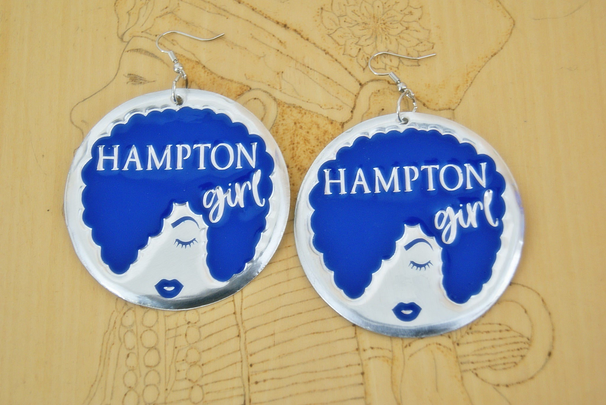 'Hampton Girl' HBCU Collection Afro Statement Earrings